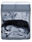 The Lion Of Lucerne Duvet Cover by Dan Sproul
