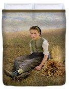 The Little Gleaner Duvet Cover by Hugo Salmon