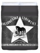 The Lonestar Liniment Duvet Cover by Bill Cannon