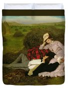 The Lovers Duvet Cover by Pal Szinyei Merse