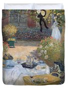 The Luncheon Duvet Cover by Claude Monet