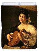 The Lute Player Duvet Cover by Michelangelo Merisi da Caravaggio
