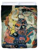 The Maiden Duvet Cover by Gustav Klimt