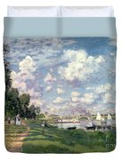 The Marina At Argenteuil Duvet Cover by Claude Monet