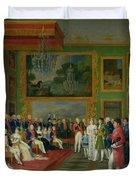 The Marriage of Eugene de Beauharnais Duvet Cover by Francois Guillaume Menageot