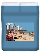 The Miami Beach Duvet Cover by David Lee Thompson