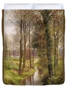 The Mill Stream Duvet Cover by Henry Sutton Palmer