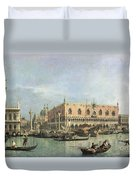 The Molo And The Piazzetta San Marco Duvet Cover by Canaletto