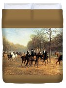 The Morning Ride Rotten Row Hyde Park Duvet Cover by Heywood Hardy