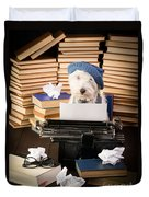 The Novelist Duvet Cover by Edward Fielding