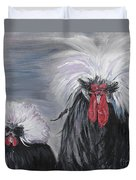 The Odd Couple Duvet Cover by Nadine Rippelmeyer