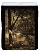 The Old Tire Swing Duvet Cover by Bill Cannon