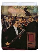 The Opera Orchestra Duvet Cover by Edgar Degas