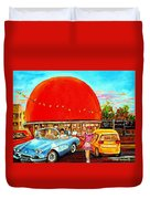 The Orange Julep Montreal Duvet Cover by Carole Spandau