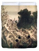 The Oreads Duvet Cover by William-Adolphe Bouguereau