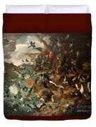 The Parliament Of Birds Duvet Cover by Carl Wilhelm de Hamilton