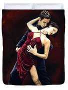 The Passion Of Tango Duvet Cover by Richard Young