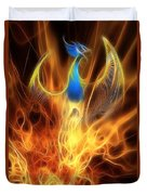The Phoenix Rises From The Ashes Duvet Cover by John Edwards