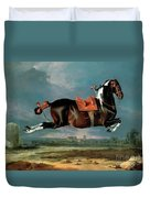The Piebald Horse Duvet Cover by Johann Georg Hamilton