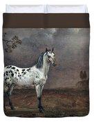 The Piebald Horse Duvet Cover by Paulus Potter