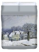 The Place Du Chenil At Marly Le Roi Duvet Cover by Alfred Sisley