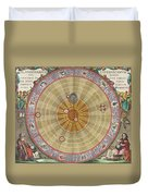 The Planisphere Of Copernicus Harmonia Duvet Cover by Science Source