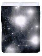 The Pleiades Star Cluster, Also Known Duvet Cover by Stocktrek Images
