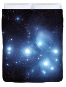 The Pleiades Star Cluster Duvet Cover by Charles Shahar
