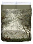 The Pond Duvet Cover by Jean Baptiste Corot