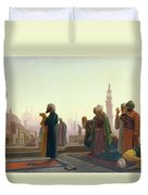 The Prayer Duvet Cover by Jean Leon Gerome