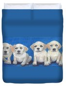 The Pups 2 Duvet Cover by Roger Wedegis