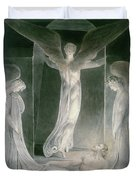The Resurrection Duvet Cover by William Blake