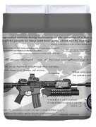 The Right To Bear Arms Duvet Cover by Daniel Hagerman