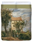 The Road To Rueil Duvet Cover by Camille Pissarro