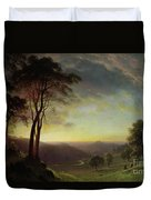 The Sacramento River Valley  Duvet Cover by Albert Bierstadt