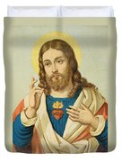 The Sacred Heart Duvet Cover by French School