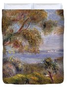 The Sea at Cagnes Duvet Cover by Pierre Auguste Renoir
