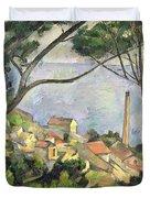 The Sea At L Estaque Duvet Cover by Paul Cezanne