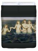 The Sea Maidens Duvet Cover by Evelyn De Morgan