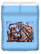 The Seduction Of The Muses Duvet Cover by Darwin Leon