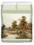 The Sheep Drover Duvet Cover by Thomas Octavius Clark