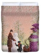 The Snowman Duvet Cover by Peter Szumowski
