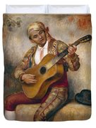 The Spanish Guitarist Duvet Cover by Pierre Auguste Renoir
