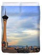 The Stratosphere in Las Vegas Duvet Cover by Susanne Van Hulst