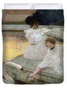 The Swans Duvet Cover by Joseph Marius Avy