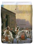 The Sword Dance Duvet Cover by Jean Leon Gerome