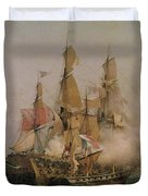 The Taking of the Kent Duvet Cover by Ambroise Louis Garneray