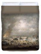 The Tanks Go In - Sword Beach  Duvet Cover by Richard Willis