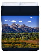 The Tetons II Duvet Cover by Robert Bales