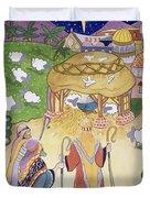 The Three Shepherds Duvet Cover by Tony Todd